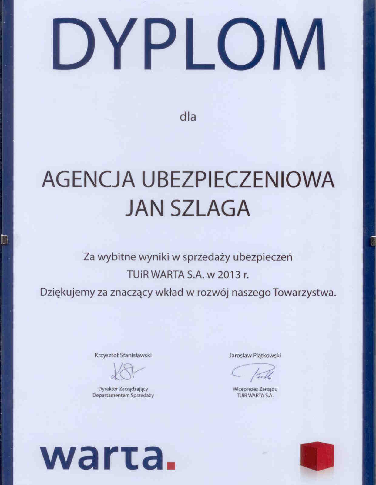 Top Partner 2013 Warta Nowy Targ Harcerska 5 Szlaga Piotr Jan